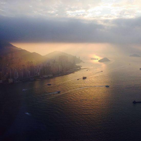 HongKong Sky100 Landscape Sunset