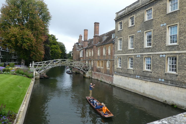Mathematical Bridge Architecture Bridge - Man Made Structure Building Exterior Built Structure Day Nature Nautical Vessel Outdoors Real People Sky Transportation Tree Water