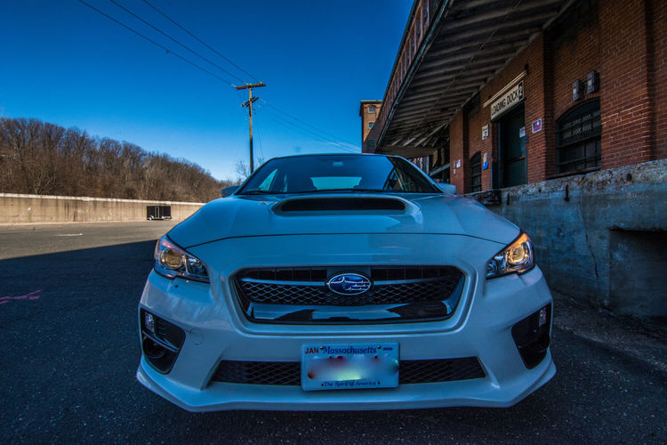 2017 Subaru WRX Blue Car Day No People Outdoors Sky Transportation White Crystal Pearl