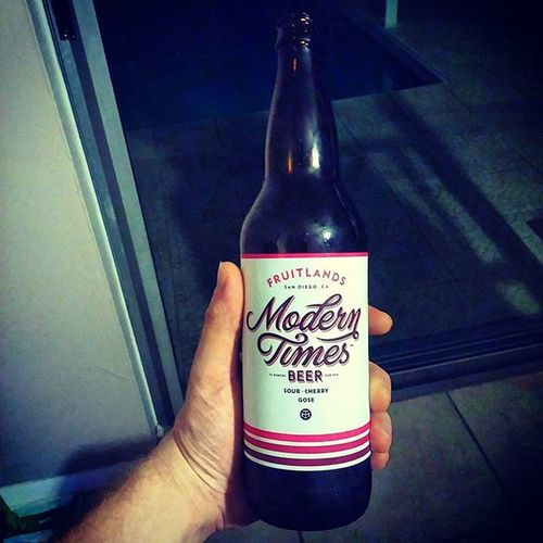 Modern Times Sour Cherry Gose Moderntimes Gose Sour Craftbeer Craftbeernotcrapbeer Beer Beerporn Instabeer