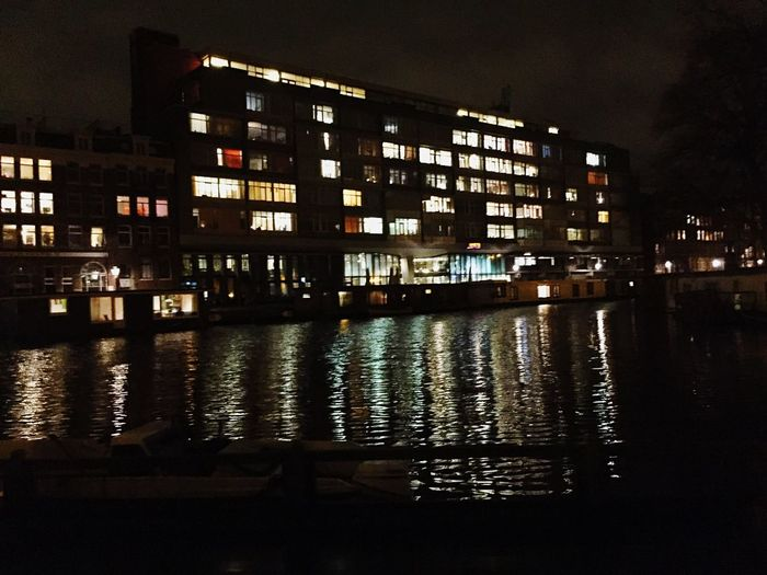 Memories Amsterdam Hausboot Night Architecture Building Exterior City Built Structure Illuminated Modern No People Outdoors Cityscape