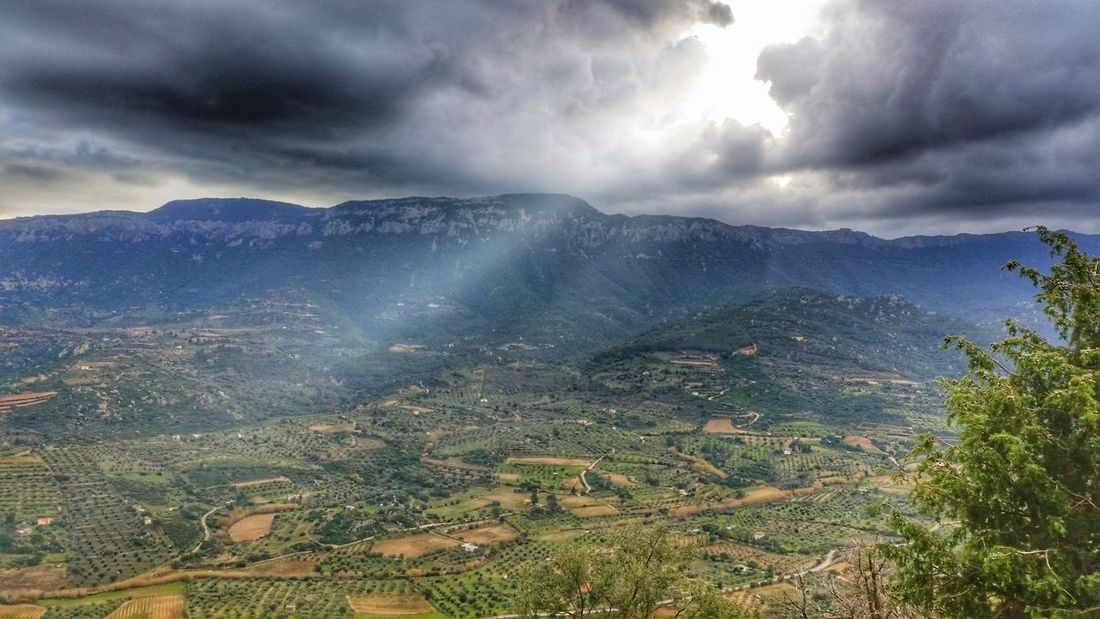 VallediOddoene Dorgali Sardegna Beauty In Nature Sky Dramatic Sky Cloud - Sky Scenics Landscape Nature Outdoors Thunderstorm Day Sun Beauty In Nature Colours Green Color Freshness Magnificentsardegna