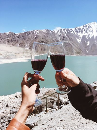 Relationshipgoals Couple Dream Lifestyles Travel Destinations Travel Human Hand Human Body Part Hand Mountain Real People Holding Drink Food And Drink Nature Lifestyles Day Two People EyeEmNewHere