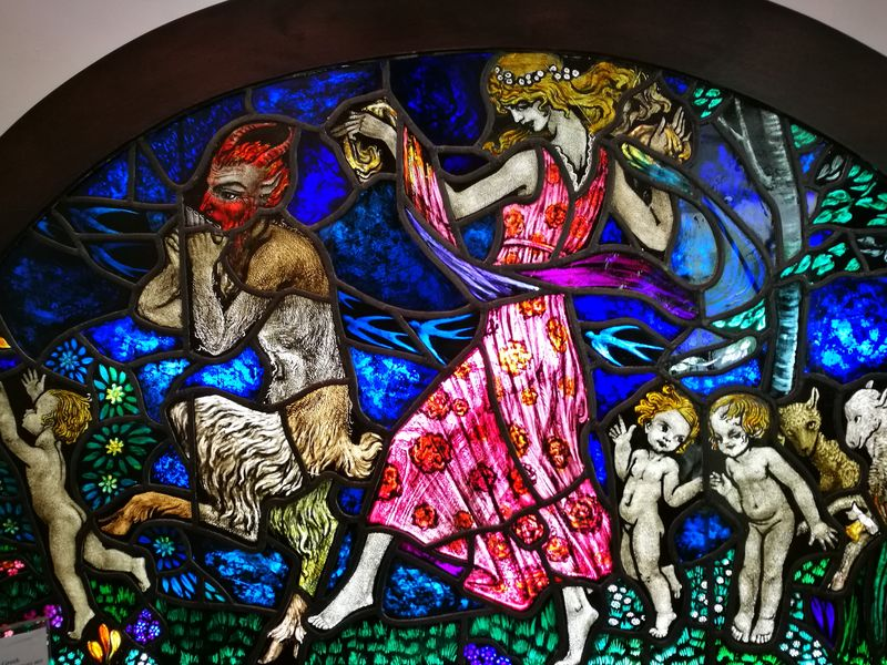 Multi Colored Art And Craft No People Indoors  Satyr Stained Glass Art Decorative Art