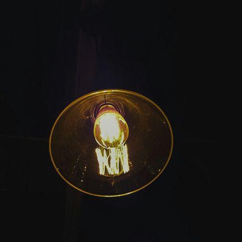 Light bulb at night