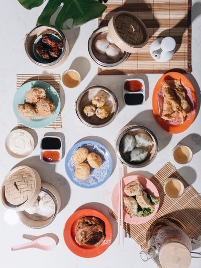 Breakfast Dimsum Foodspotting Breakfast Chinese Foodphotography Foodstyling Food And Drink Food Directly Above Choice Table Freshness Indoors  Variation Healthy Eating Ready-to-eat Plate No People Wellbeing Indulgence Still Life High Angle View Meal Seafood Serving Size Sweet Food