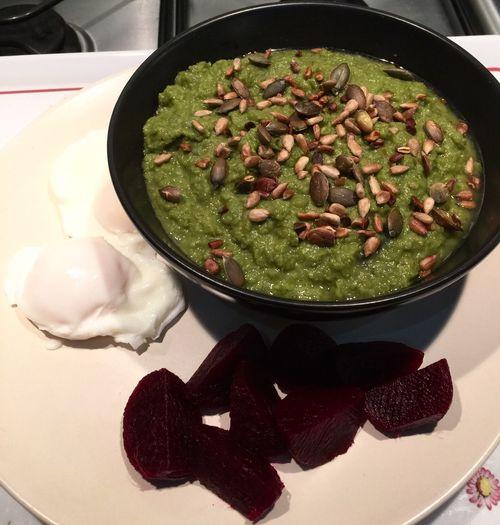 Dinner Healthy Food Eating Pea Soup Clean Eating