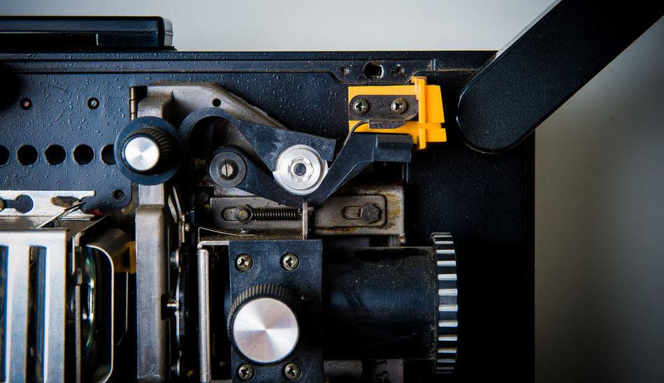 Super 8 movie projector detail Amateur Cinema Detail Film MOVIE No People Projector Reel Roll Spool Super 8