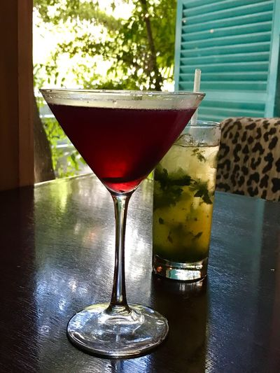 Evening Cocktails Food And Drink Cosmopolitan&mojito Caracas