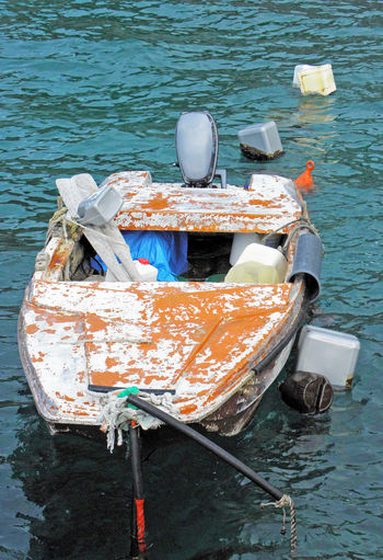 Kalic bay,old colourful vessel,Adriatic coast,Croatia,Europe,4 Adriatic Coast Adriatic Sea Bay Day Jurjevo Kalic Nature No People Outdoors Sea Seaside Senj Sv.Juraj Tourism Tranquility Water