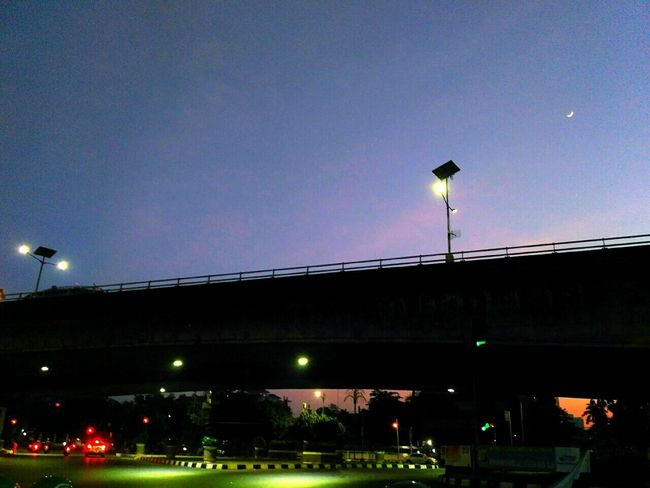 Night Illuminated Architecture City Sky Low Angle View Built Structure Street Light Bridge - Man Made Structure Outdoors Transportation No People Building Exterior Cityscape