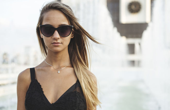 Attractive Female Beautiful Sunny Attractive Woman Beautiful Woman Caucasian Day One Person Outdoors Potrait Real People Single Woman Sunglasses White Young Adult Young Woman Young Women