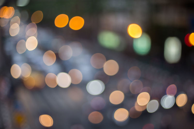 Abstract Yellow Bokeh Bussiness Circle Close-up Colorful Cool Multi Colored Street Traffic Jam Xmas Texture Vintage Light