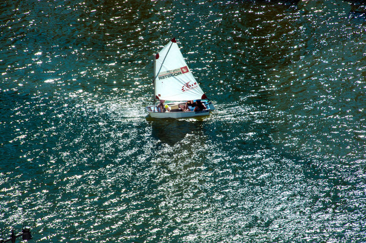 High Angle View Leisure Activity Lifestyles Nautical Vessel Sailboat Sailing Sailing Boat Sport Sports Vacations View From Above Water