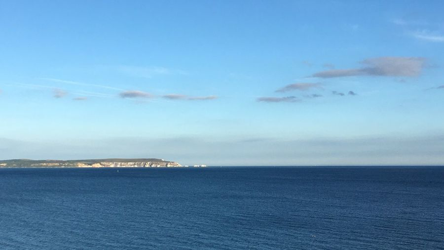 Sea Sky Beauty In Nature Scenics Water Nature No People Cloud - Sky Tranquil Scene Outdoors Blue Tranquility Day Horizon Over Water Waterfront Iow