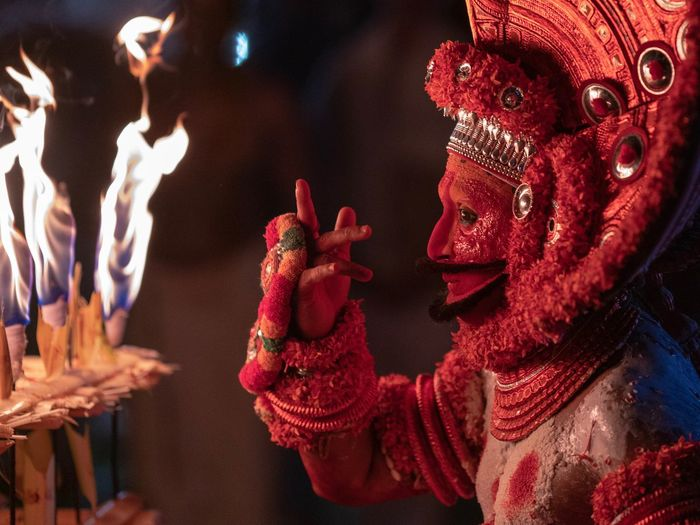 Theyyam of Kannur - Kerala / India Portrait Of A Man  Man Incredibleindia Incredible India Kannur Portraiture Portraits Portrait Photography Portrait Photography Portrait Indiapictures India Keralatourism Kerala The Gods Own Country ;) Kerala India Kerala Theyyams Of Kannur Theyyam Group Of People Red Performance Celebration Human Hand Real People Hand Arts Culture And Entertainment Festival Event Illuminated Night