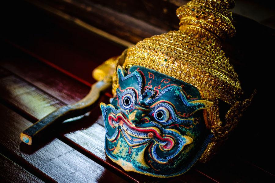 Ramakien the Monkey King of Thai Mythology. Art Close-up Cultures Decor Decoration Design Monkey King Multi Colored Ornate Still Life Thailand Details Lieblingsteil