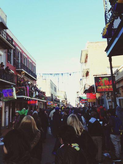 Under Pressure Mardi Gras Great Crowd New Orleans Burbon Street