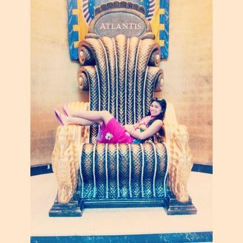 Not the iron throne but this will do. Nassaubahamas Atlantis