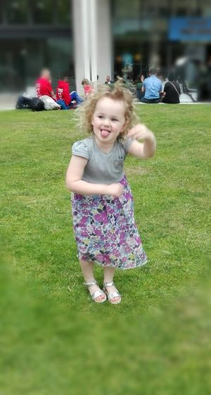 My Crazy Girl Loves To Dance Birmingham City Centre Outdoors Outdoor Music Stick Your Tongue Out Crazy Hair Not A Care In The World Loving Life  People Together