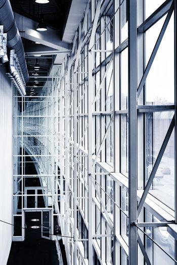 exhibition halls Architecture Built Structure Day Exhibition Halls Fair Hamburg Indoors  Metall Construction Modern No People Spotlights Technic Windows