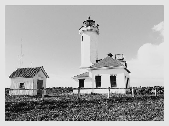 Port Townsend Iphone 6 Plus Point Wilson Lighthouse lighthouse Admiralty inlet Black & White