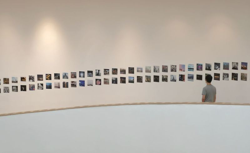 where's my photo? Huawei P20 Pro Art Gallery BACC Photos Photo Exhibition Photo Gallery Art Exhibition Rows Of Photos Rows Of Pictures Corridor Pictures On The Wall Photos On The Wall Photo Contest Bangkok Bangkok Art And Culture Centre Hallway Full Length Rear View Architecture