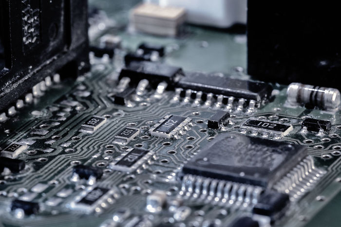Printed Circuit Board (drastic edit) - Abstract Circuit Circuit Board Close Up Technology Close-up Communication Complexity Connection Depth Of Field Drastic Edit Electronic Electronics  Electronics Industry Exceptional Photographs EyeEm Best Edits First Eyeem Photo Futuristic Hello World Innovation Macro Photography PCB Printed Circuit Board Selective Focus Taking Photos Technology