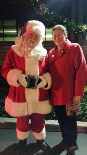 Santa! (and me)
