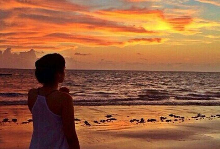Valorize enquanto esta perto de você. Porque quando estive longe não tem mais jeito. Beach PensamentosLonge GoodVibes☆