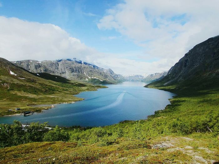 Lake Mountain Landscape Nature Outdoors Norway