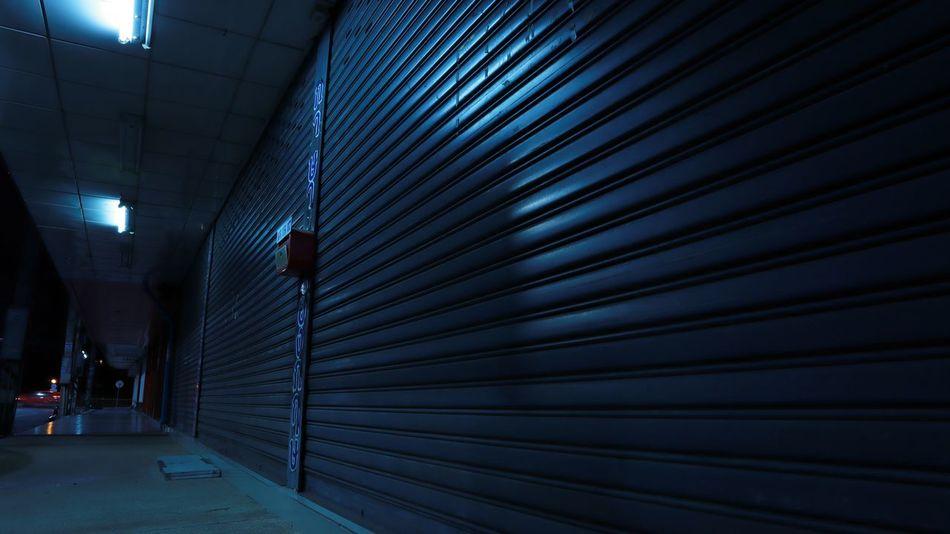 Closed Night Shutter Shutter Door Light Lighting Equipment Footpath Ceiling