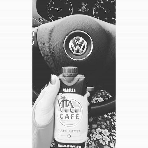 New Obsessed Newobession Vivacoco latte caffieneaddict vwgirl vw vdub blackandwhite mystory114