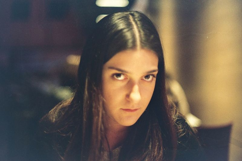 35mm Film Close-up Contemplation Film Photography Filmisnotdead Focus On Foreground Front View Head And Shoulders Headshot Human Face Indoors  Leisure Activity Lifestyles Long Hair Looking At Camera Person Portrait Showcase April Young Adult Young Women