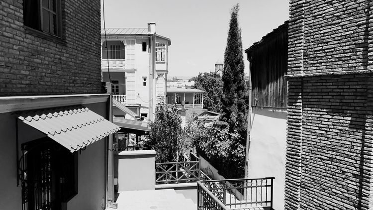An Urban Jungle amidst Tbilisi 's old city,… Urban Geometry Urban Architecture City Black And White Friday