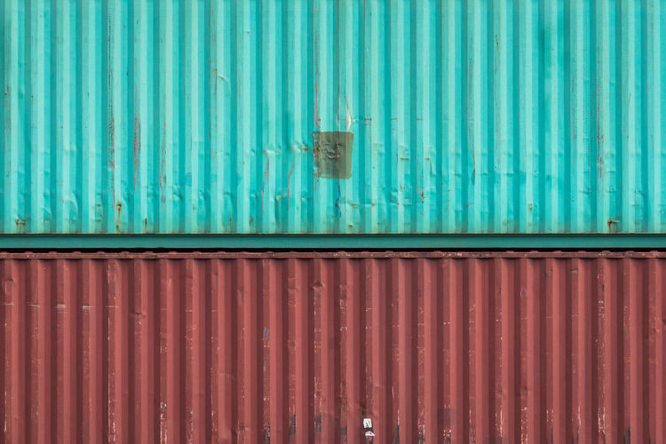Rhein Architecture Backgrounds Blue Built Structure Cargo Container Container Corrugated Corrugated Iron Day Door Entrance Freight Transportation Full Frame Iron Iron - Metal Metal No People Outdoors Pattern River Sheet Metal Shipping  Turquoise Colored Wall - Building Feature