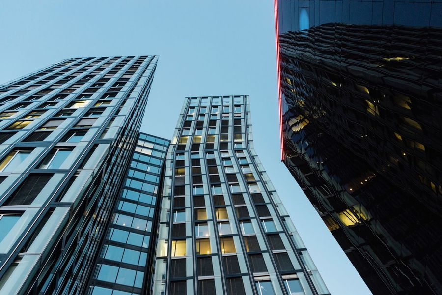 Dancing towers... Arch+ Architecture_collection Architecture Building Exterior Skyscraper Built Structure Modern Window Reflection City Outdoors Growth Tall Day Cityscape No People Corporate Business