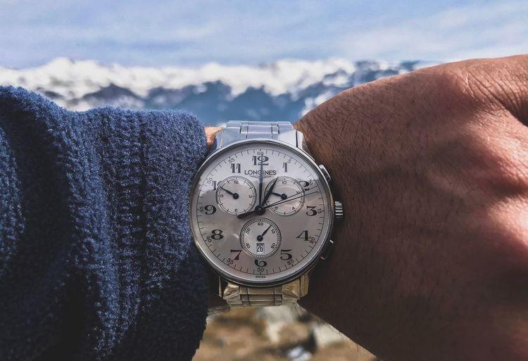 EyeEm Selects Time Human Body Part Human Hand Close-up Wristwatch Day Cloud - Sky Sky People Clock Nature Snow Outdoors The Still Life Photographer - 2018 EyeEm Awards