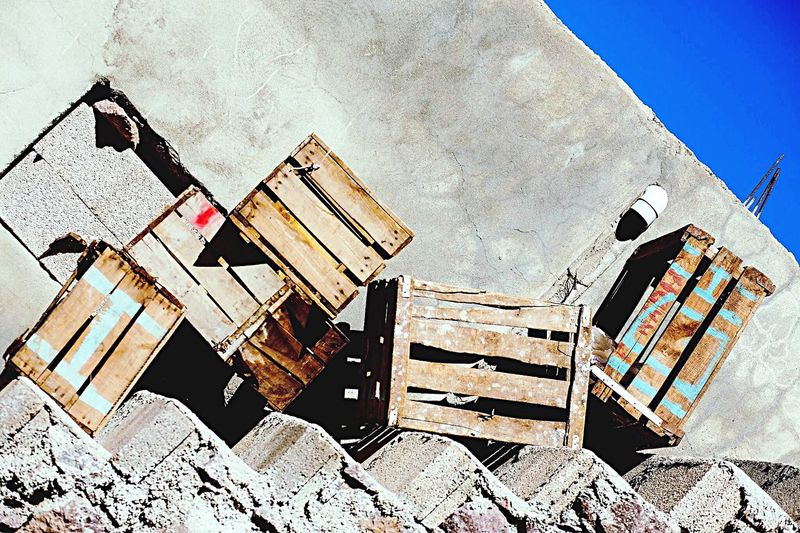Morocco Berbervillage Crates, Boxes, Wood, Wooden, Cargo Steps Sky Blue Sky Texture Imlil Atlasmountains Traveling Trecking EyeEm Best Shots EyeEm Gallery