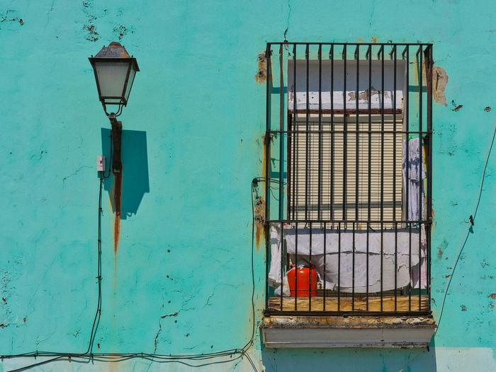 Blue door of old building