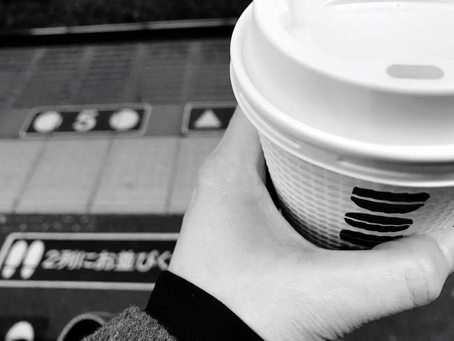 Way To Go Home Train Station Blackandwhite Coffee Close-up