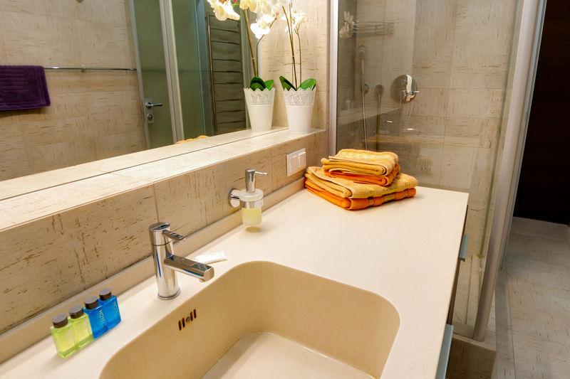 Domestic Room Indoors  Domestic Bathroom Bathroom Hygiene No People Sink Home Interior Home Household Equipment Neat Furniture Luxury Nature Architecture Faucet Wood - Material Built Structure Mirror Building