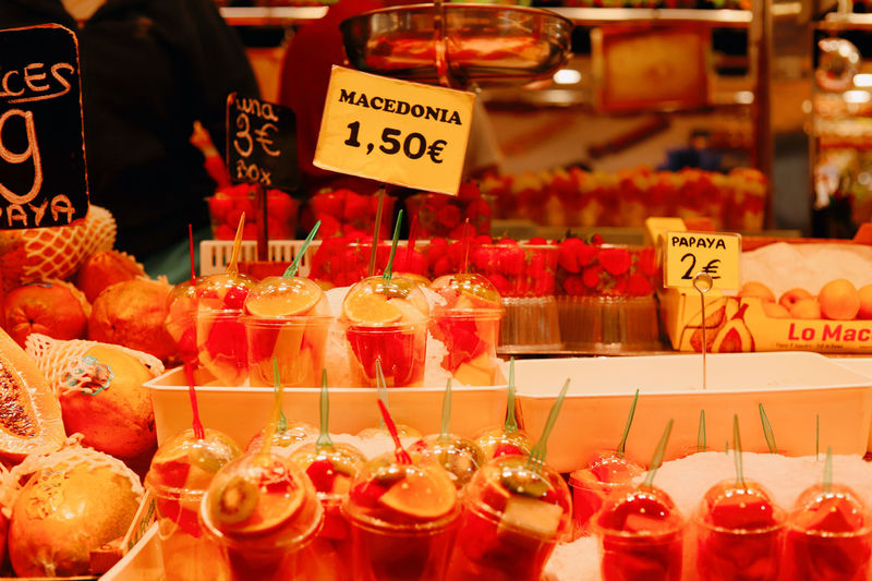 Various fruits for sale in store