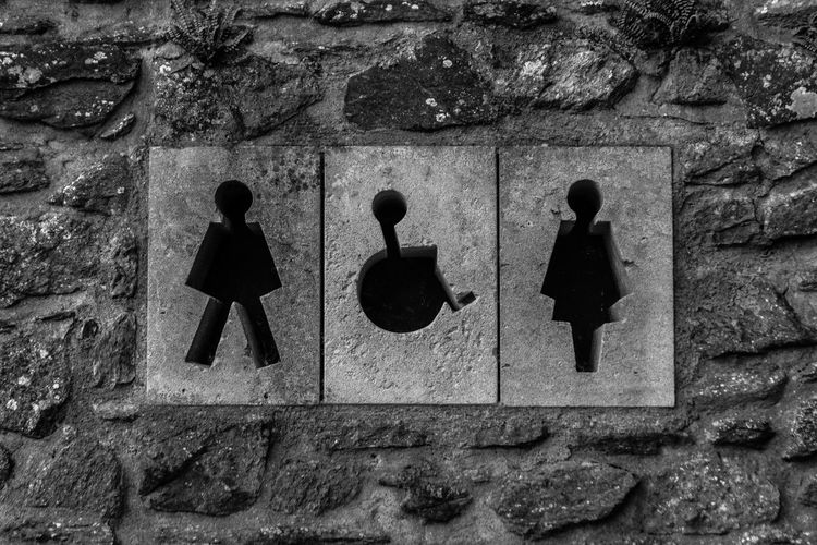 Type 1 2 and 3. toilet in st. davids, wales. Black And White Black And White Collection  Black And White Photography Female Gender Historic Male Nature Sex Stone Wall Toilet Travel Traveling United Kingdom Wales Weird Your Ticket To Europe British Culture