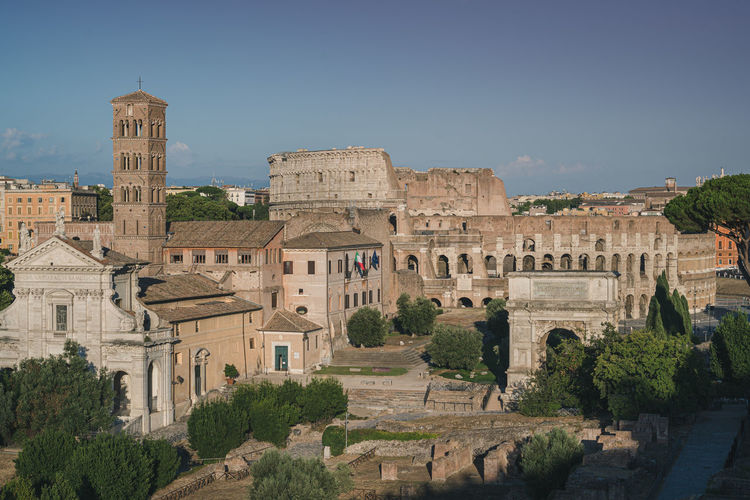 View of the colosseum from palatino hill