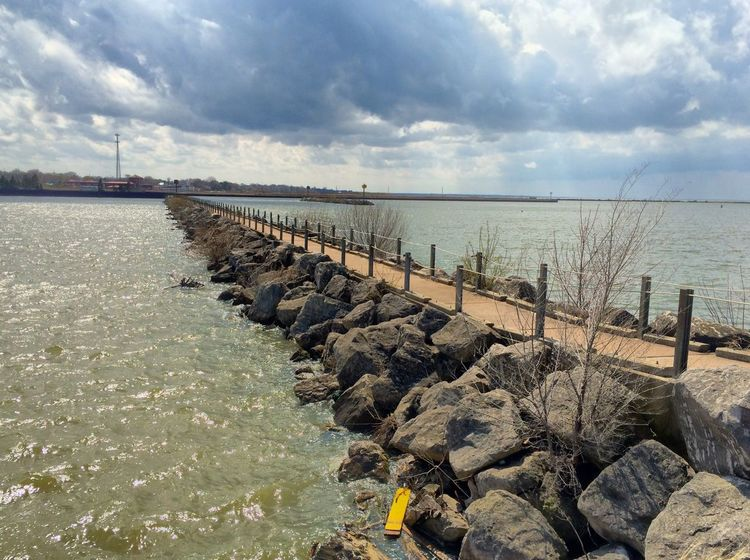 Fishing pier at the Marina on Lake Erie IPSNoFilter Nature IPhoneography