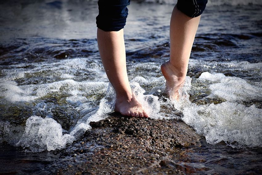 Feet in the surf of Loch Ness, Scotland Loch Ness United Kingdom Scotland Wave EyeEm Selects Water Body Part Low Section One Person Nature Human Leg Human Body Part Standing Wet Day Land Real People barefoot Beach Motion Lifestyles Outdoors Human Limb Splashing