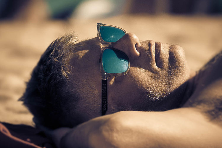 beach day Close-up Day Malemodel  Men One Person Outdoors Portrait Real People Sunglasses