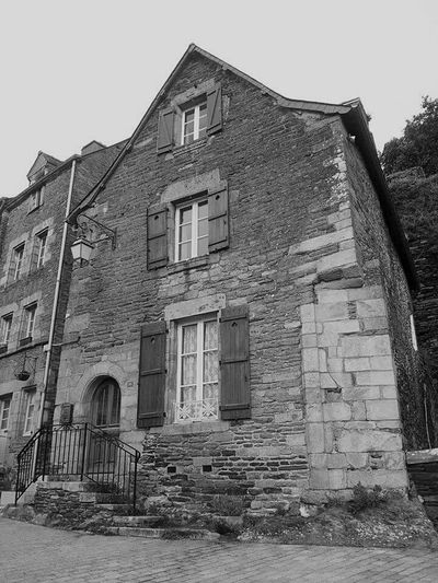 Stone house -- Josselin France -- January 2014 -- Building Exterior Architecture House Stone Stone Buildings France Brittany France World Photography Europe European  Black And White Black And White Photography Photography Photo Travel Travel Destinations Cobblestone Streets Medevil European Photography World Josselin Medevil Town Euro French Town