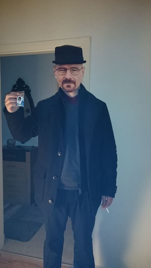 Camera - Photographic Equipment Day Front View Holding Indoors  Mature Adult Mature Men One Person People Photography Themes Portrait Real People Standing Suit Wannabe, Walter, Ehiter, Walter White, Breaking Bad, Pollos Hermanoz, Well-dressed Young Adult